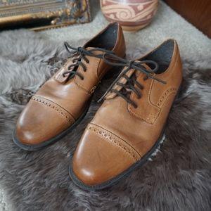 Cole Haan Dustin Cap Toe Brogue Leather Oxfords 8